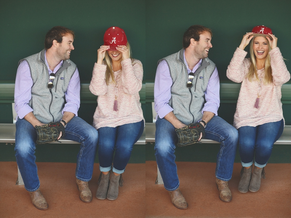 Anna + Jay : A Baseball Engagement Session
